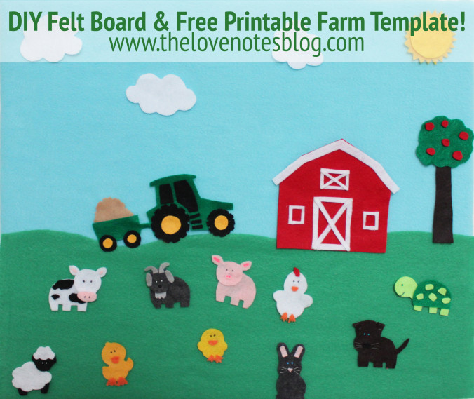 Diy felt board felt farm animals the love notes blog diy felt board felt farm animals publicscrutiny Gallery